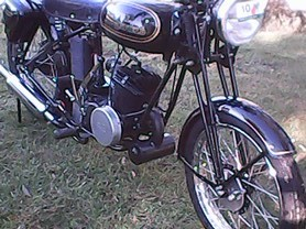 Royal Enfield with DT250 motor Inverell Restorers Rally 2017.jpg